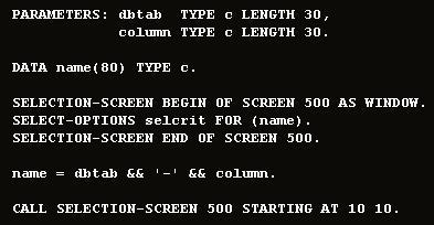 ABAP SELECT-OPTIONS sample program
