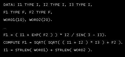 ABAP compute statement