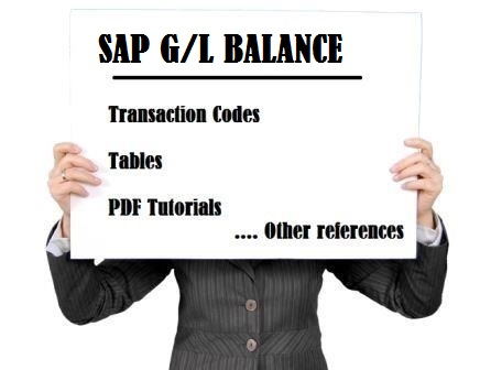 SAP FI G/L Balance Tables, Tcodes & PDF tutorials - SAP Stack