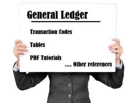 SAP FI General Ledger tutorial, tcodes, tables & PDF