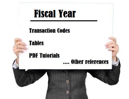 SAP fiscal year tutorial tcode tables pdf training