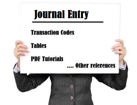 SAP journal entry tutorial tcode tables pdf training